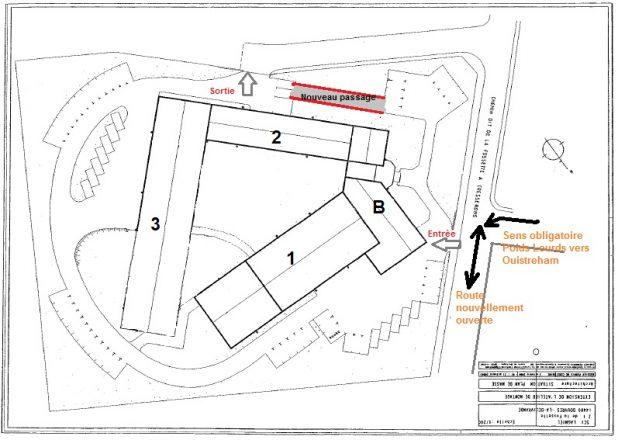 Plan de Masse avec dénominations des bâtiments